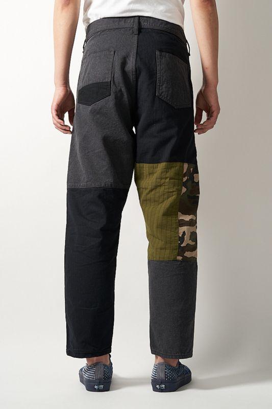 CROPPED BORO PANTS RINSE BLACK 20SS