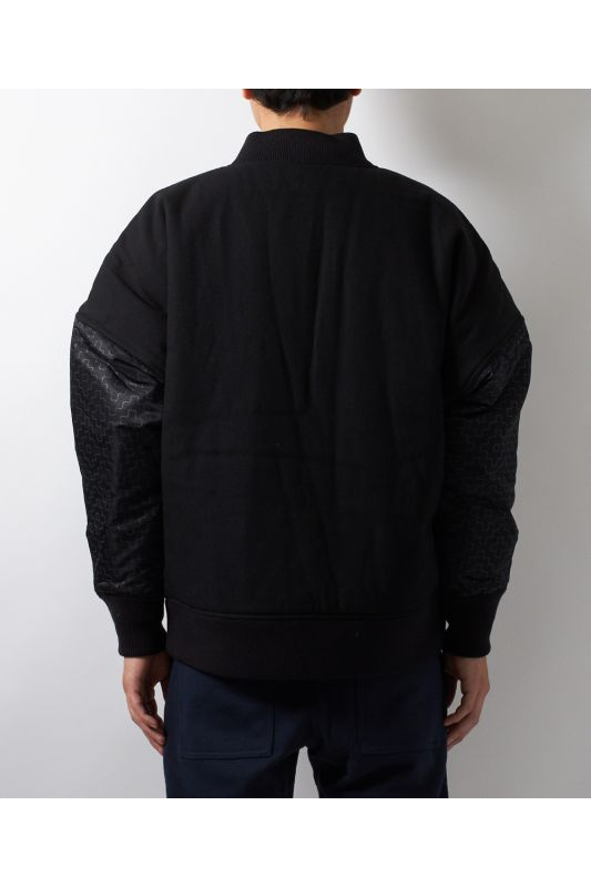 REFLECTIVE BOMBER JACKET BLACK
