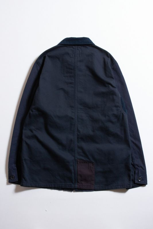 GLOBAL EXCLUSIVE-RINSE PATCHWORK COVERALL JACKET
