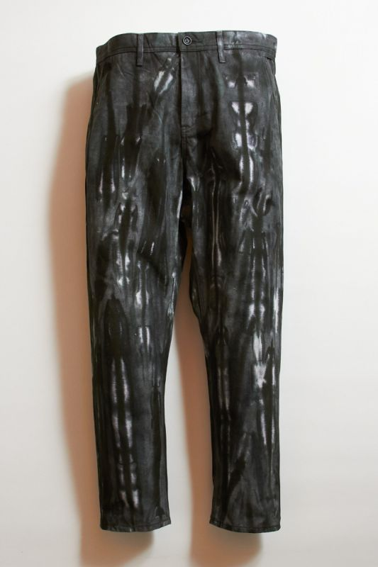 TIE DYE TAPERED PANTS BLACK 21AW