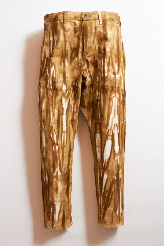 TIE DYE TAPERED PANTS BROWN 21AW