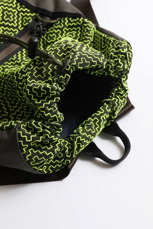 [master-piece] SASHIKO BACKPACK NEON