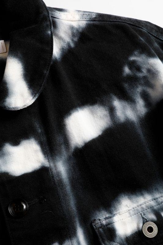TIE DYE SHIBORI COVERALL BLACK