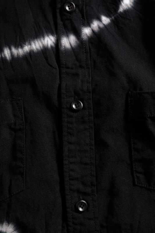 OVERSIZED TIE DYE SHIBORI SHIRT BLACK
