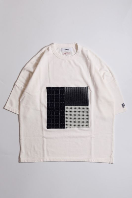 PATCHWORK POCKET WIDE TEE WHITE